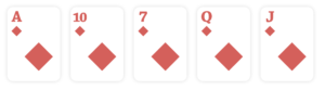 flush, poker hands ranking