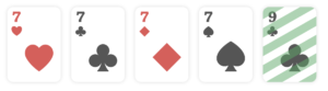 Four of a kind, poker hands ranking