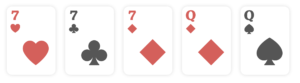 Full House, poker hands ranking