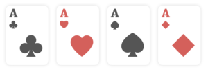 Aces, poker hands ranking